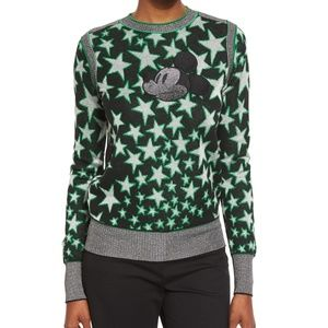 Marc Jacobs Mickey Mouse Star-Print Sweater